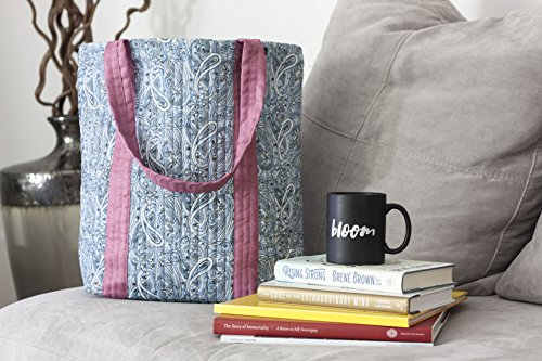 Paisley Tote Bag//Fair Trade//Light Blue & Pink//Gifts for Her//Ethically Made