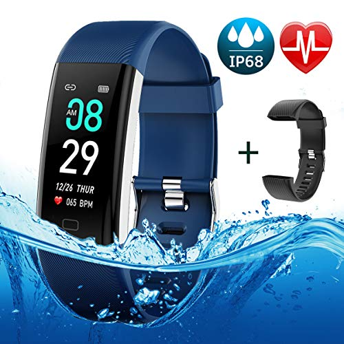 BETIMESYU Fitness Tracker Waterproof Activity Tracker with Heart Rate Blood Pressure Blood Oxygen Monitor Step Counter Calorie Counter Pedometer Activity Smart Watch for Men Women Kids ()