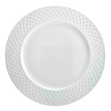 MIKASA Trellis White Dinner Plates (Set of 4) | Bone China  sc 1 st  Amazon.com & Amazon.com | MIKASA Trellis White Dinner Plates (Set of 4) | Bone ...