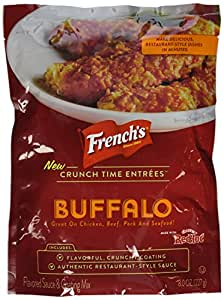 French's, Crunch Time, Entrees Seasoning Mix : Buffalo, 8oz Bag (Pack of 2)
