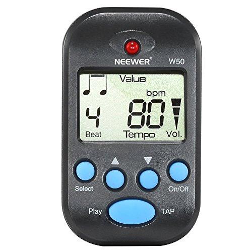 Neewer Lightweight Portable Digital Metronome Black