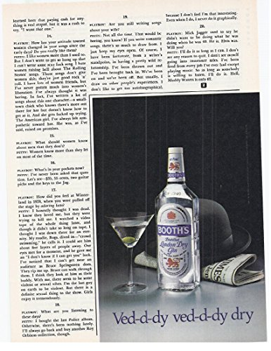 1982 Vintage Print Advertisement for Booth