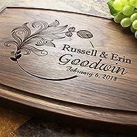 Engagement Personalized Cutting Board Wedding Anniversary Housewarming Engraved Serving Cheese Plate Birthday Closing Gift #605 Custom Keepsake Corporate
