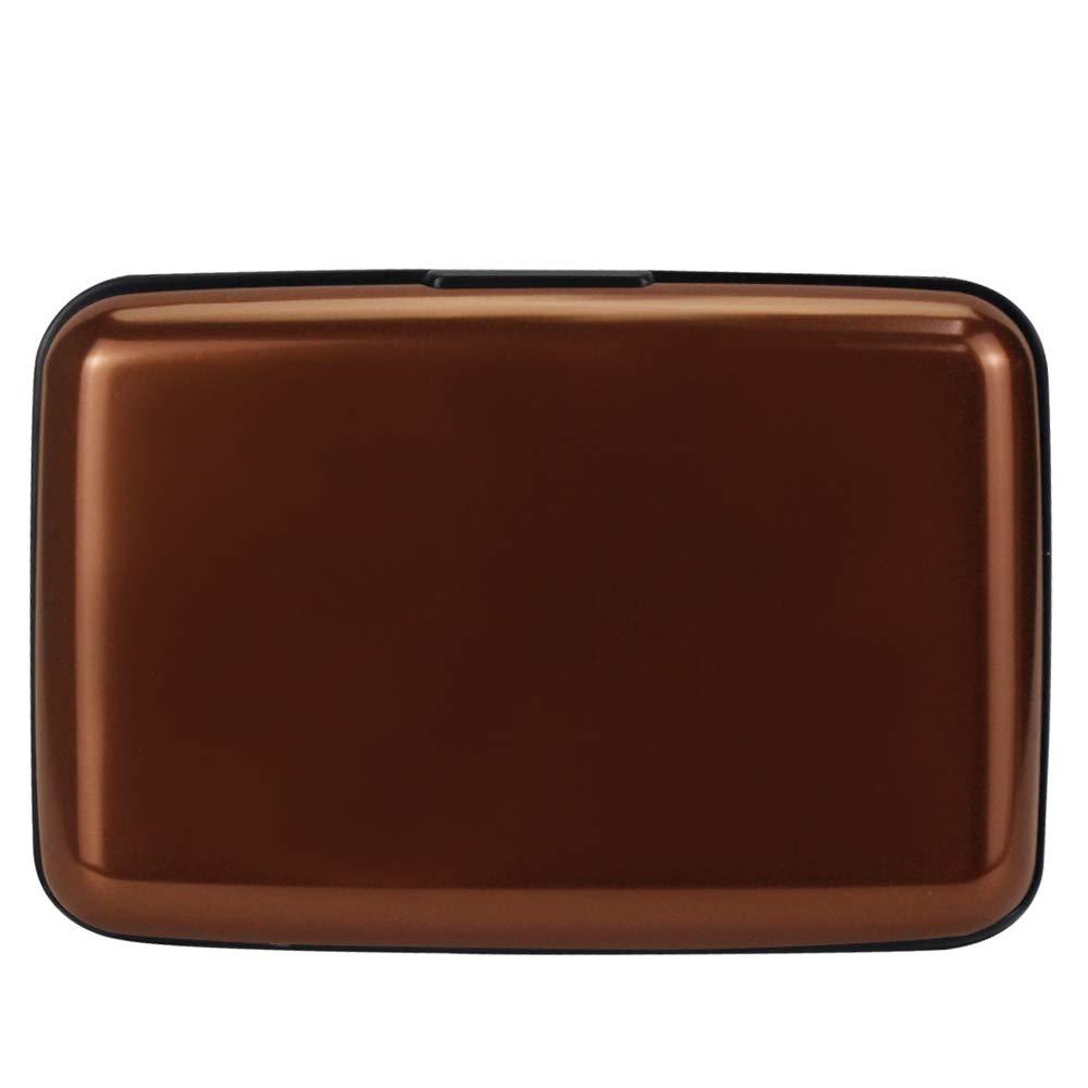 OBO HANDS 6 Emplacements de Cartes Aluminium Femmes et Man Porte-Cartes Mode Bonbons Couleur Carte de Crédit Portefeuille Marque Femmes Porte-Cartes De Visite (Blanc)