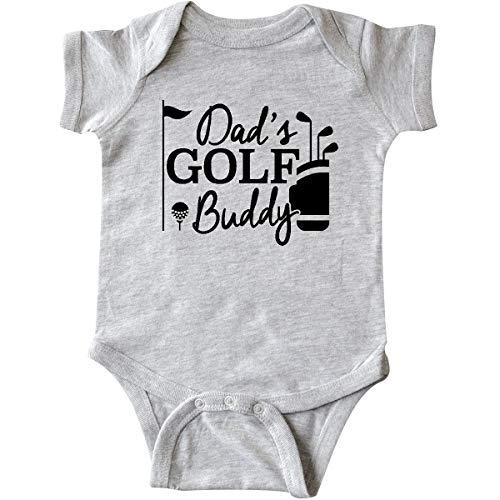 Golfers Caddy One - inktastic - Dad's Golf Buddy Infant Creeper Newborn Heather Grey 26877