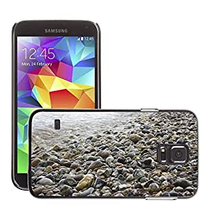 Hot Style Cell Phone PC Hard Case Cover // M00150645 Stones Beach Background Sea Wet // Samsung Galaxy S5 S V SV i9600 (Not Fits S5 ACTIVE)