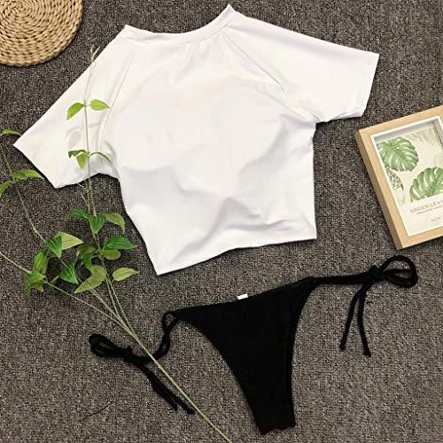 CHIDY Women's Pineapple Bikini Tops Padded Push Up Bra Swimwear Beach Bathing Suit Beachwear Two Piece Swimsuits White by CHIDY (Image #4)