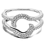 Sterling Silver Total Halo Wrap Guard Enhancer with Cubic Zirconia (0.37 ct. tw.)
