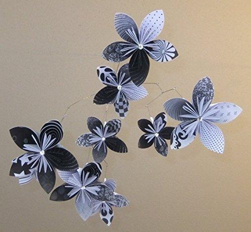 Amazon black and white origami flower mobile handmade black and white origami flower mobile mightylinksfo