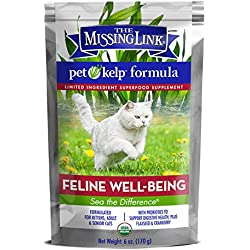 The Missing Link Pet Kelp Formula - Feline Well-Being - Limited Ingredient Superfood Supplement for Cats 6 oz