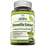 Herbal Secrets Boswellia Serrata Extract (65% Boswellic Acids) 600 mg 120 Capsules - Non Synthetic