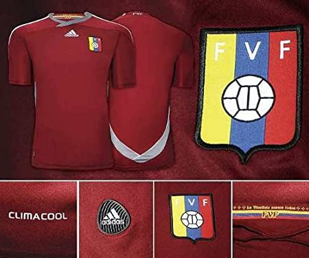 Amazon.com : Adidas Venezuela Home Jersey Camisa De La Vinotinto FVF - V39906 : Football Uniforms : Sports & Outdoors