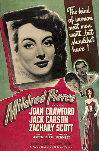 Posterazzi Mildred Pierce Us Left: Joan Crawford Zachary Scott Jack Carson 1945 Movie Masterprint Poster Print (11 x 17)