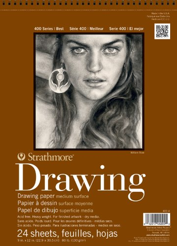 Strathmore STR-400-4 24 Sheet No.80 Drawing Pad, 9 by 12