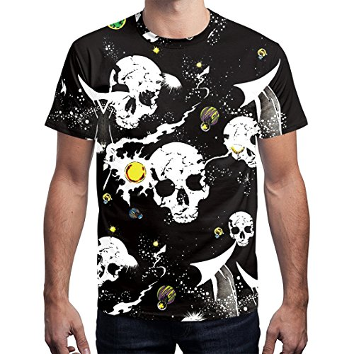 Jiayiqi Unisexo Moda 3D Digital Graffiti Print Camisetas De Manga Corta Tees c9WUG