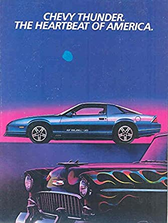 Amazon.com: 1985 Chevrolet Camaro IROC Z28 & V8 V6 Turbo Brochure: Entertainment Collectibles