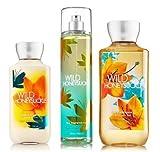 "Bath & Body Works Signature Collection "" Wild Honeysuckle "" Gift Set ~ Body Lotion ~ Shower Gel & Fragance Mist ~ For Sale"