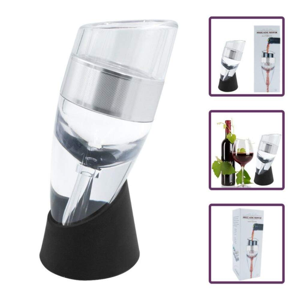 FosFun FSD02 Wine Aerator Pourer and Filter with Display Stand Acrylic Wine Breather