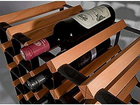 Z&HAO Gabinete De Madera del Vino del Almacenamiento del Hierro De La Madera Sólida Gabinete Clásico De Madera para Las Botellas - Tienda/Estante De La Vinoteca,20Bottle[Clase de eficiencia energética A]