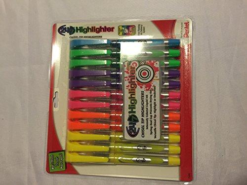 Multi Color Zebra Snap - Pentel 24/7 Chisel Tip Highlighters 12 Pack (25091)