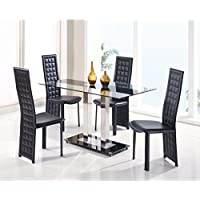Global Furniture USA D2108N-DT-BS-Global Furniture Piece Dining Table, Black Stripe
