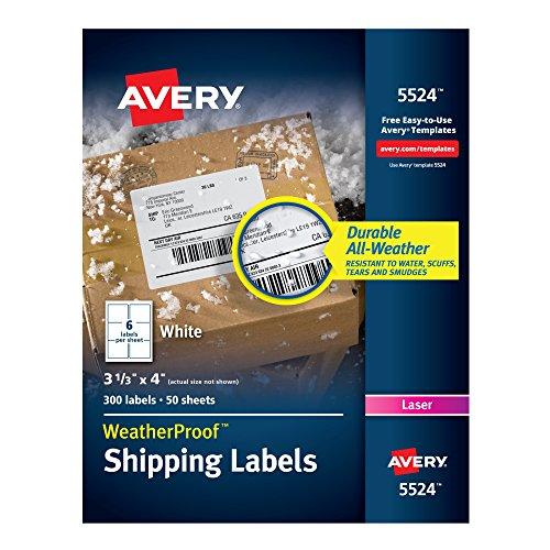 amazon com avery weatherproof mailing labels with trueblock