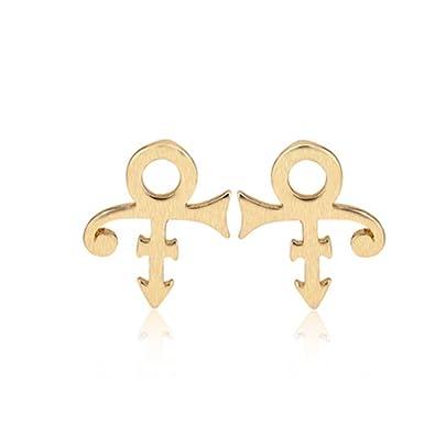 Amazon Prince Symbol Lady Stud Earrings Jewelry