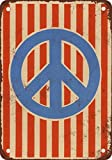 1972 Peace Sign Flag Vintage Look Reproduction Metal Signs 12X16 Inches
