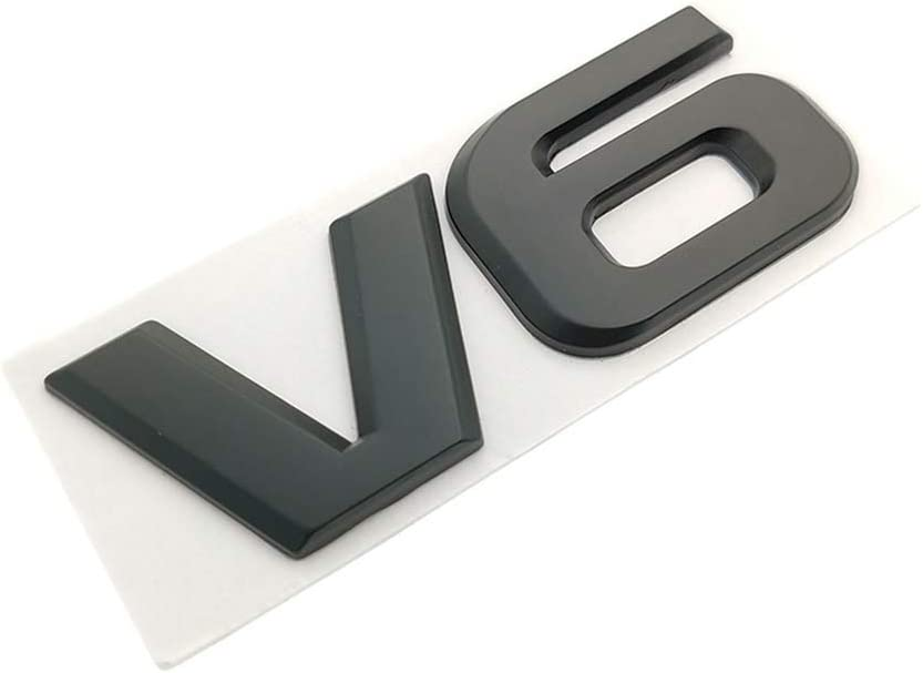 V6-Black DSYCAR 3D Metal Adhesive V6 Truck Car Badge Emblem Sticker Car Styling Accessories