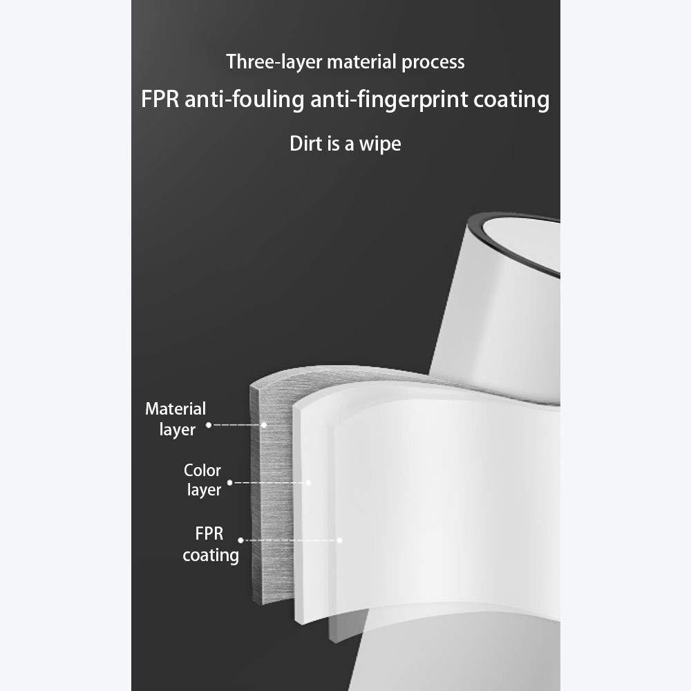 IhDFR Bote de Basura de Acero Inoxidable Hogar Sala de Estar Cuarto de ba/ño con Tapa Cocina de Estilo Pedal Estilo n/órdico Cubierto Creativo Capacidad : 5L, Color : Blanco