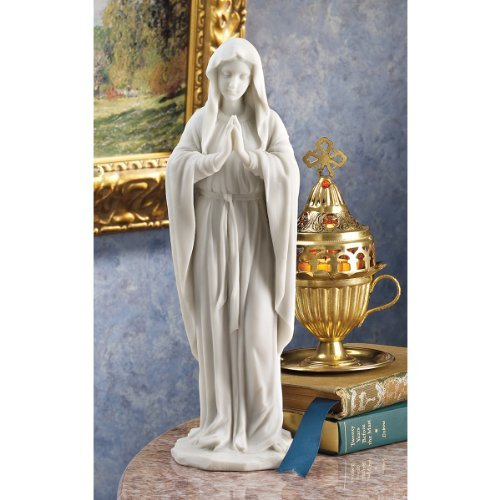 Blessed Virgin Mary Catholic Bonded Marble Statue Sculpture