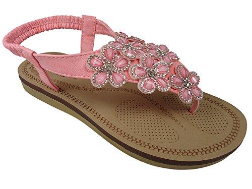 Savannah F0984 - Sandalias de Material Sintético para mujer Rosa