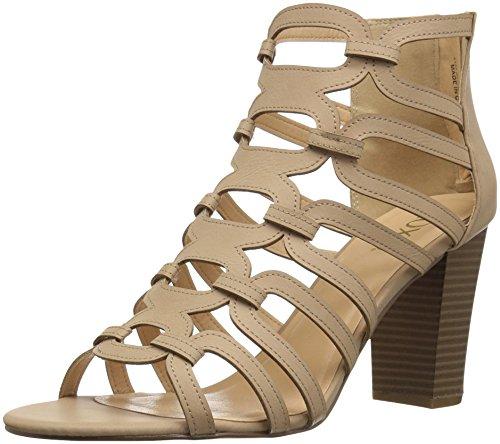 XOXO Women's Bloomington Heeled Sandal, Bone, M110 M US