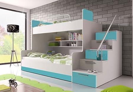 Etagenbett Mit Rausfallschutz : Etagenbett viki für personen inkl lattenroste und matratzen