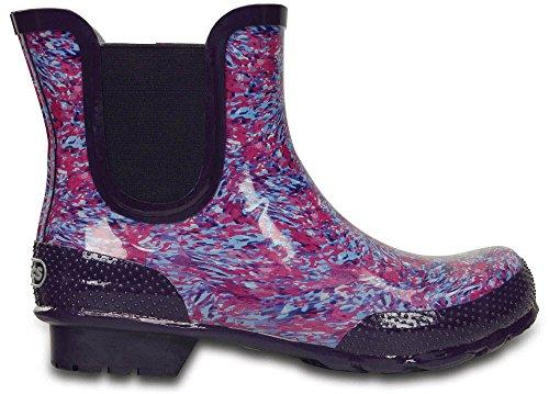 Crocs Boot Donna Ceruleo Chelsea Watercolor Blu Stivali rwfZnErCqx