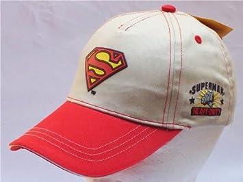 c236ab29b Amazon.com: SUPERMAN BEIGE HAT LOGO BASEBALL CAP HAT CHILD KID NEW ...