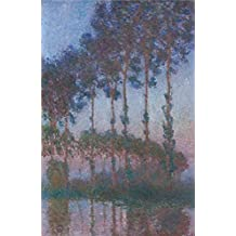 'Poplars On The Epte, 1891 By Claude Monet' Oil Painting, 10x15 Inch / 25x39 Cm ,printed On High Quality Polyster Canvas ,this High Definition Art Decorative Prints On Canvas Is Perfectly Suitalbe For Powder Room Gallery Art And Home Decor And Gifts