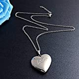 YOUFENG Love Heart Locket Necklace That Holds