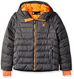 Spyder Big Boys' Upside Down Jacket, Polar, M