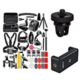 50-In-1 Action Camera Accessory Kit for GoPro Hero 6 5 4 3+ 3 2 1 Hero Session 5 Black AKASO EK7000 Apeman SJ4000 5000 6000 DBPOWER AKASO VicTsing WiMiUS Rollei QUMOX Lightdow Campark und Sony Sports