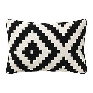 IKEA LAPPLJUNG RUTA - Funda de cojín, blanco, negro - 40x65 ...