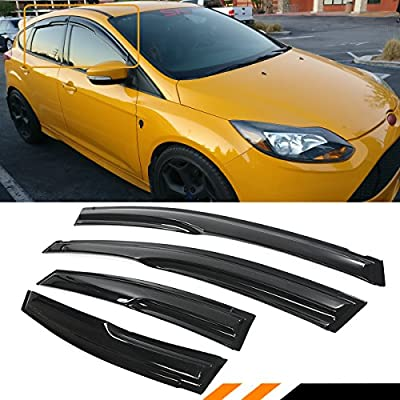 4pcs EdgeVisors Wind Deflectors For Ford Focus MK3 4//5 Door Saloon Hatchback 2011-onwards
