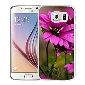 New Beautiful Custom Designed Cover Case For Samsung Galaxy S6 With Purple Daisies (2) Phone Case