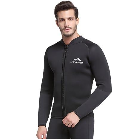 SANANG 5 MM neopreno chaqueta de neopreno hombres trajes de buceo de manga larga de surf