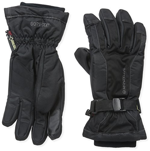 Manzella Men's GORE-TEX FAHRENHEIT 5 Touch Tip Ski Gloves, Black, (Manzella Ski)