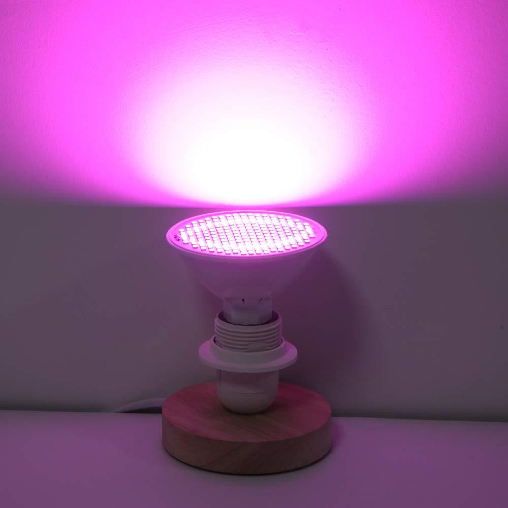 Winbang Lampada per piante Full Spectrum 200-LED Rosso e Blu Grow Light Lampada UV per piante idroponiche Fiori E27 30W