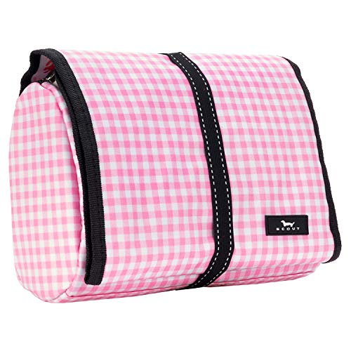(SCOUT BEAUTY BURRITO Large Hanging Toiletry Bag for Women, Travel Cosmetic and Toiletries Organizer with Elastic Band Closure (Multiple Patterns Available) )