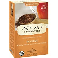 Numi Organic Tea Rooibos, Caffeine Free Herbal Teasan, 18 Count non-GMO Tea Bags (Pack of 3)