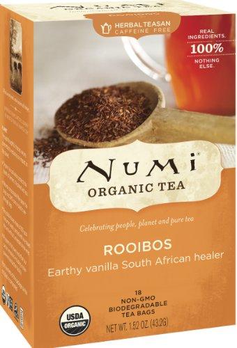 Rooibos Tea Bags (Numi Organic Tea Rooibos, Caffeine Free Herbal Teasan, 18 Count non-GMO Tea Bags (Pack of)