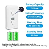 Spy Camera Outlet Fuvision Motion Activated Wi-Fi Hidden Camera with FHD Pinhole Camera 30 Days Battery Life and Message Alerts Nanny DVR Perfect for Home Security and Surveillance(Decoy Outlet)